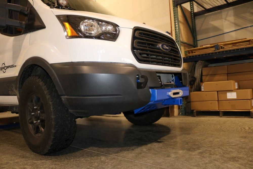 VAN COMPASS™ FORD TRANSIT WINCH MOUNT AND FRONT RECEIVER HITCH (2013+)